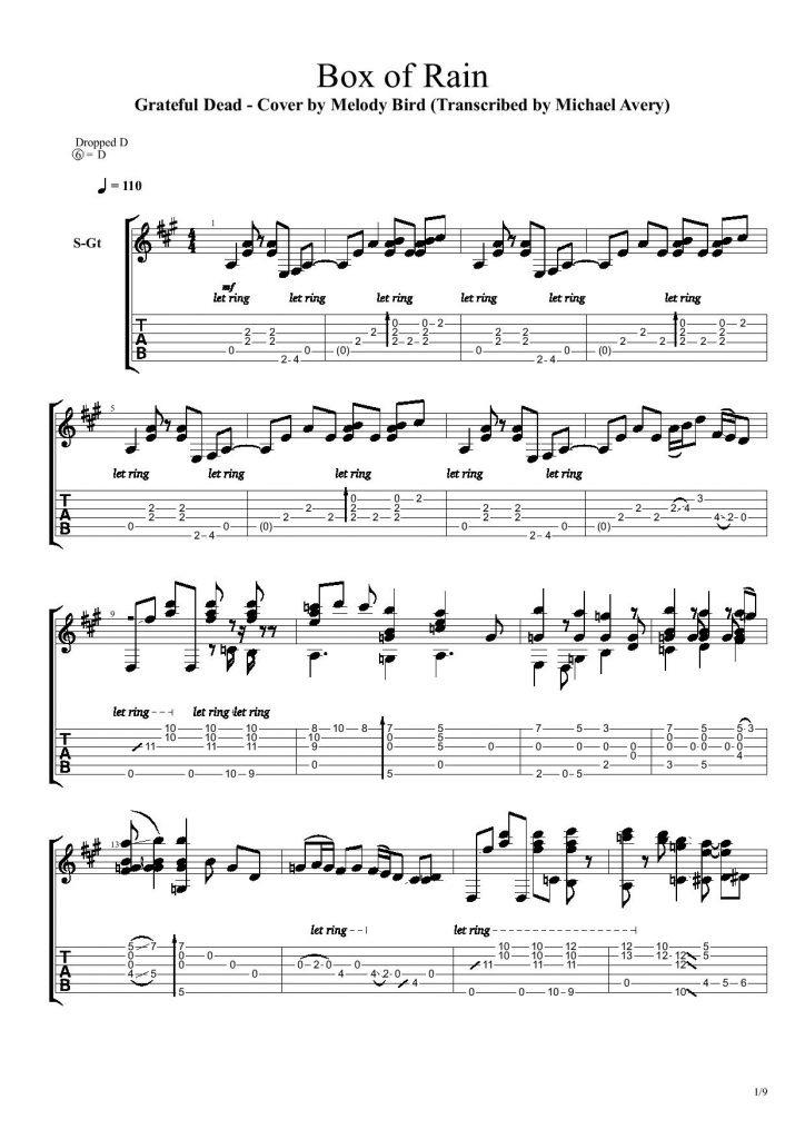 Single Perfect Raindrop Chords